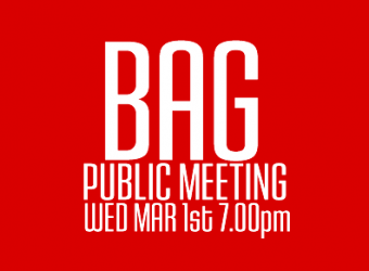 Public Meeting Wed 7.00pm