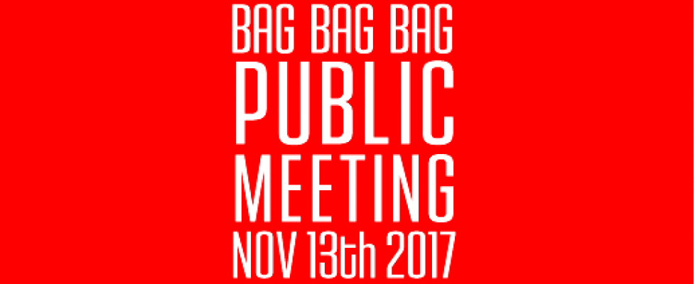 PUBLIC MEETING MON 13TH NOV 7.30pm